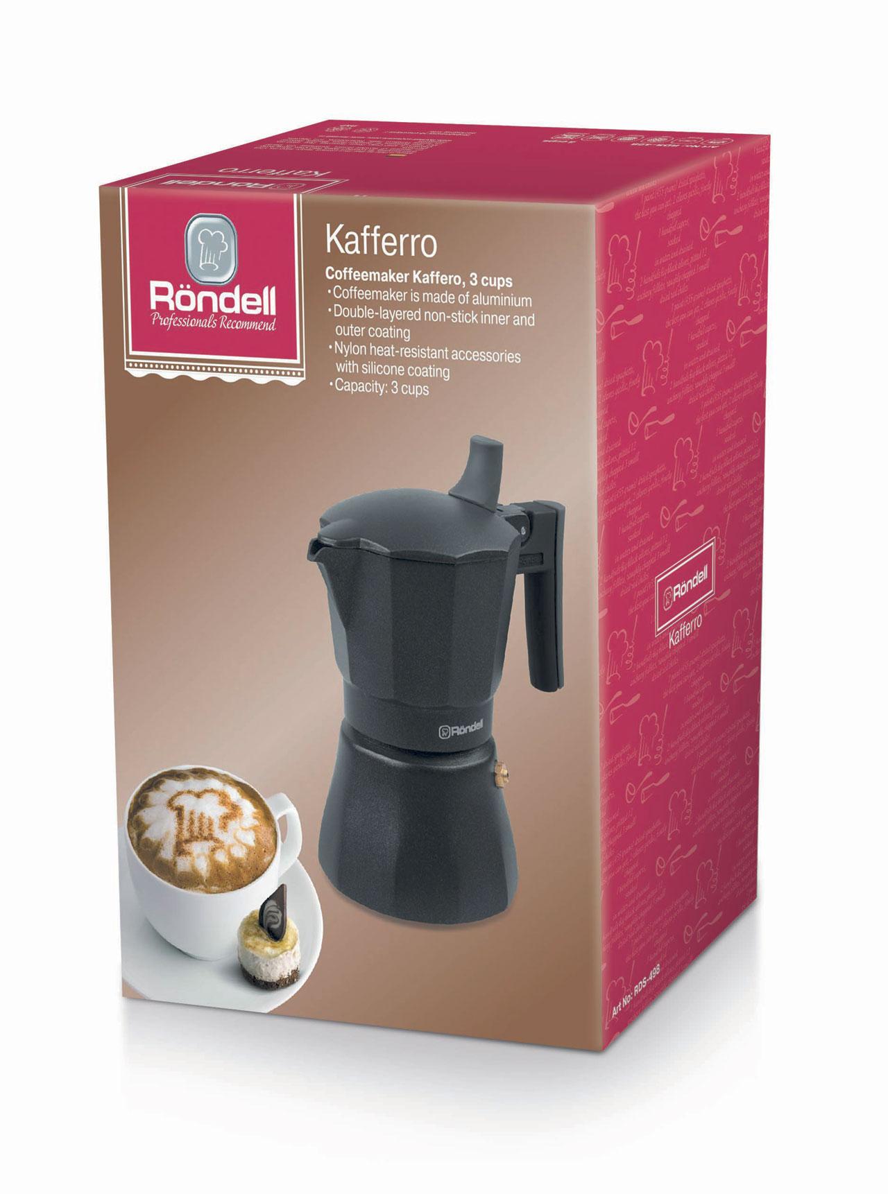 Кофеварка гейзерная rondell kafferro